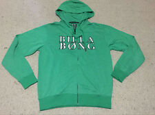 New Mens BillaBong Surf Zip Fleece Hoodie Sweatshirt Jacket Green Size Large