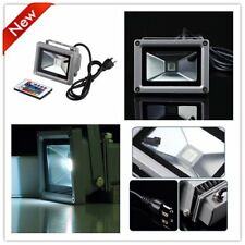 Remote Control 10W 12/85/265V LED Flood Light Lamp Floodlight Waterproof LOT LC