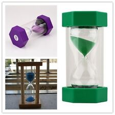 Sand Timer Hourglass Sandglass Egg Timers 1/10/15 Minutes Cooking LO