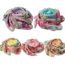 Women Fashion Long Soft Floral Scarf Wrap Shawl Stole Wrap Scarves Winter G2J8