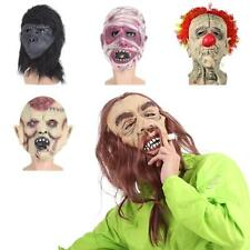 FESTNIGHT Scary Funny Mask Latex Face Mask Halloween Mask Multiple Choices D2U2