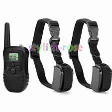 300 Yard LCD 100LV Electric Shock Vibra Remote Pet Dog Training Collar 998DR