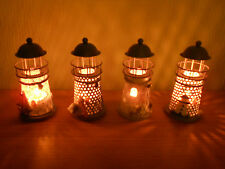 Mediterranean Lighthouse Candle Holder with Tea Light Candles