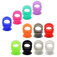 11 PAIR-LARGE FLARE SOFT SILICONE EAR GAUGES-EAR PLUG TUNNELS-EXPANDER JEWELRY