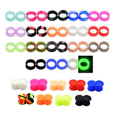 54PCS Flesh Tunnels-Gauge Kits-Silicone Stretching Kits-Ear Tunnels-27 Colors