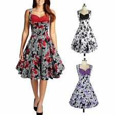 Elegant Women Vintage Style 50'S 60'S Swing Pinup Cocktail Party Prom Dress