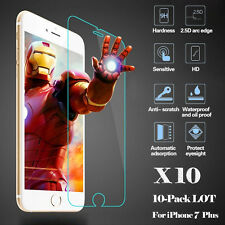LOT Wholesale 9H Tempered Glass Screen Protector No Bubble Privacy iPhone 7 Plus