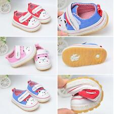 Baby Toddler Cotton Prewalker Softsole Boy Girl Flat Casual Walking Shoes