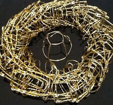 42 Gold Champagne cork Wire Cages for wreathmaking, napkin holders, or floral