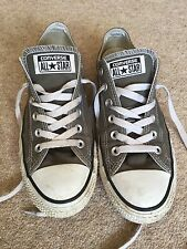 Low Top Converse All Star Trainers - UK7 - Grey