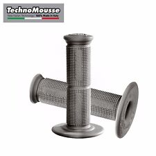 TechnoMousse Motorcycle Handle Grips-Gray