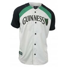 Guinness Cream Baseball Jersey Ireland Irish Gaelic Embroidered Sports Shirt NEW