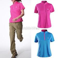Womens Athletic Short Sleeved T-Shirt Quick-Dry Shirts with 2 Colours