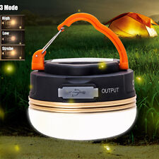 Rechargeable 3W 300LM  LED USB Camping Outdoor Light Lantern Tent Lamp 6hrs
