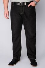BadRhino Black Denim Straight Leg Stretch Jeans 34-60 3 Lengths
