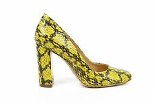 Versace Ladies Leather Scales Pumps YELLOW