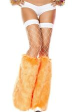 Women's Sexy Rave Orange Leg Warmers Fluffies