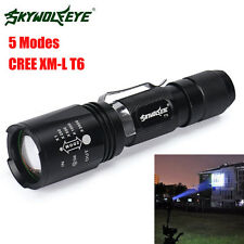 Super Bright CREE XM-L T6 LED 18650 Tactical Flashlight Zoom Torch Light Lamp