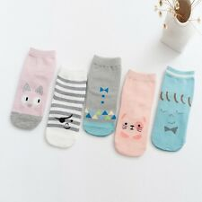 Spring & Autumn Newborn Baby Boy Girl Soft Anti Slip Rubber Sole Cartoon Socks