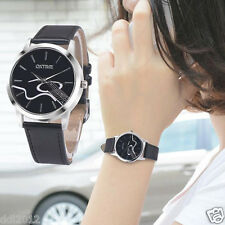 Fashion Womens Ladies Waterproof Leather Band Analog Quartz Bracelet Wrist Watch
