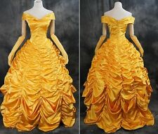H-T045 Pincess Belle Rococo Victorian gold Ball-dress costume dress n Scale