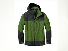 NWT Eddie Bauer Mens Snowline Shell Jacket Weatheredge Waterproof Green/ Blue