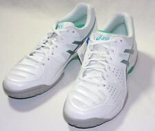 Asics Gel-Dedicate 4 Tennis Shoes,Synthetic/Mesh,White/Silver/Mint, New