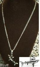 18or 24 Inch Chain Necklace & Shark Charm Pendant Fish Lovers Gift Souvenir