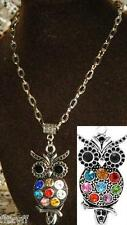 20or 24 Inch Chain Necklace & Owl Pendant Charm Bird of Prey Strigiformes