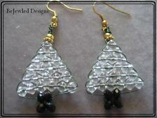 Christmas Tree wire weaved Earrings ~Handcrafted~