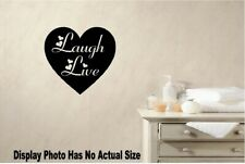 Live Love Laugh Heart Fun Inspirational Bedroom Wall Quote Saying Vinyl Decal