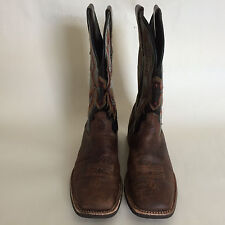 Mens Ariat 10006733 11 inch sqare toe Work boots Brown Size 13D