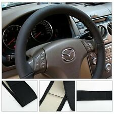 DIYPU Leather Car Auto Steering Wheel Cover With Needles and Thread Black New LC