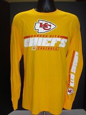 Kansas City Chiefs Majestic Adult Long Sleeve T-Shirt - Free Shipping! - NWT!