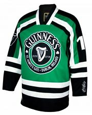 Guinness St. James's Gate Dublin Ireland Hockey Jersey Mens Irish Gaelic Green