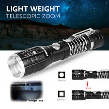 Super Bright 2200LM CREE Q5 AA/14500 5 Modes Zoomable LED Flashlight Torch Lamp