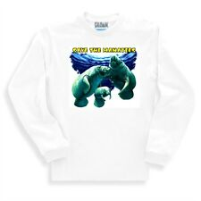 Nature Sweatshirt Save Manatees Manatee Ocean wildlife Marine Life Sea