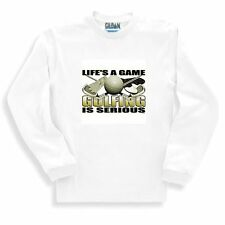 Sports Sweatshirt Life's A Game Golfing Is Serious Golf