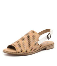 New I Love Billy Picture Camel/White Women Shoes Casuals Sandals Flats