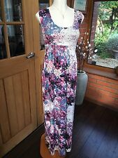 (B2078) Maternity Maxi Dress Size 10/12 Pretty Floral Print