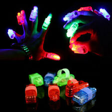 4-100PC LED Finger Light Lamps Party Laser Light Up Beam Dancing Christmas Party