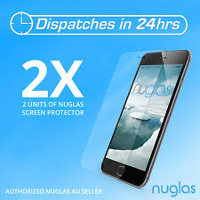 2x GENUINE NUGLAS Tempered Glass Screen Protector for apple iphone 6 phone 6s