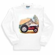 Long Sleeve T-shirt Adult Youth Country Decorative Vintage Barn Tractor