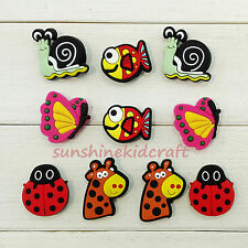 Flyer Butterfly fish PVC shoe charms For croc/wristband,Shoe Ornament,Kid Gift