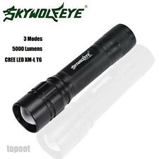 5000 Lumens 3 Modes CREE XML T6 LED 18650 Flashlight Zoomable Torch Lamp Light