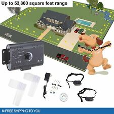 In-Ground Electric Dog Pet Fence System Waterproof Shock Collars For 1-3 Dogs