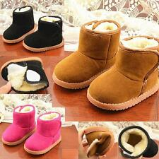 Boys Girls Winter Warm Snow Boots Furry Non-Slip Casual Shoes Children Baby Kids