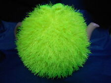 Funky fluffy tea cosy hand knitted in Wales NEON YELLOW