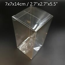 "2.7""x2.7""x5.5"" Bomboniere Favour Boxes Fold Up Wedding Clear Plastic Packaging"