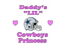 Daddy's LIL Cowboys Princess  Dallas girls NFL tshirt one piece